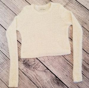 Abercrombie & Fitch White Fuzzy Sweater